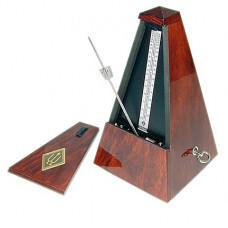 811 Maelzel Метроном механический, деревянный корпус, со звоночком, глянцевый, Wittner