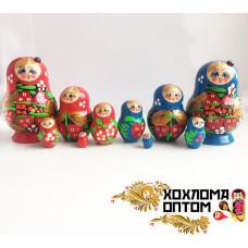 "LHM10171 Матрешка ""Клубничка малая"" 5 кукольная, Хохлома"