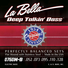 0760M-B Deep Talkin' Bass Комплект струн для 5-струнной, бас-гитары, сталь, 52-128, La Bella