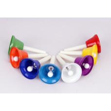 HB8 Цветные колокольчики с язычками, на ручках, 8шт по нотам в упаковке. Fleet