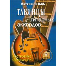 5-89608-029-8 Таблицы гитарных аккордов, Издательский дом В.Катанского
