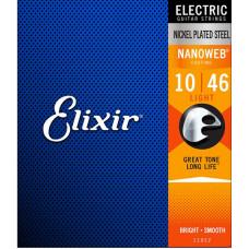 12055 NANOWEB Струны для электрогитары, 25 комплектов, никелированные, 10-46, Elixir