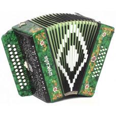 SZ51XL-C-GR Гармонь «Шуйская» 25х25-III, зеленая, Шуйская гармонь