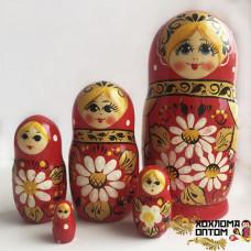 "LHM10164 Матрешка ""Ромашка"" 5 кукольная, Хохлома"