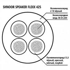 425BLK-100m Кабель акустический гибкий, 4x2.5мм, d10, 100м, SHNOOR