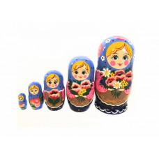 """LHM10196 Матрешка """"Маковый букет"""" 5 кукольная, Хохлома"""