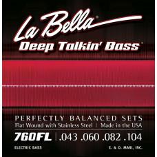 760FL Deep Talkin' Bass Комплект струн для бас-гитары, Light, 43-104, La Bella