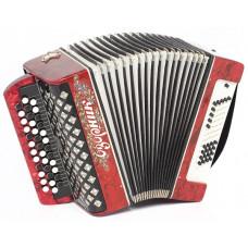В24L-RED Баян «Озорник» 37х60хII, красный, Шуйская гармонь