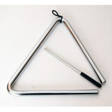 """FLT-TE7 Треугольник профессиональный с палочкой 7"""", диаметр 10мм, Fleet"""