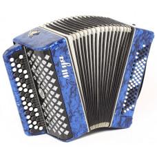 C27-BL Баян «Шуя» 47х80-II, синий, Шуйская гармонь