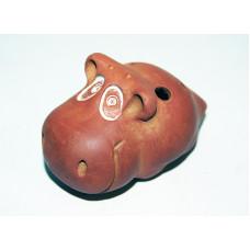 MN-OMS-8 Окарина малая сувенирная Бегемотик, Мастерская Никифорова