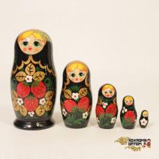 "LHM10139 Матрешка ""Хохлома с бабочкой"" 5 кукольная, Хохлома"