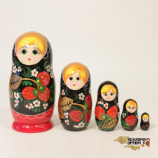 "LHM10150 Матрешка ""Хохлома Вятка"" 5 кукольная, Хохлома"