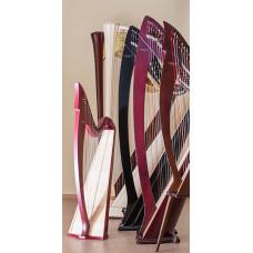 M005LEV MIRA Арфа с леверсами 28 струн, цвет отделки - Красный, Resonance Harps