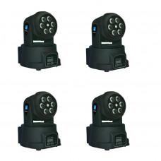 LM70L Комплект из 4 штук моторизированных светодиодных мини-прожекторов с лазером, 6х8Вт, Big Dipper