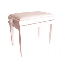 HY-PJ018A-SATIN-WHITE Банкетка, белый/белый, кожа. Rin