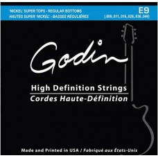 008971 E-9 Комплект струн для электрогитары, 9-46, Super Tops/Regular bottoms, Godin