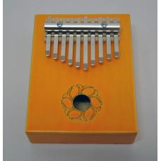 KMKr-1-YW Piastra Калимба, резонаторная, 10 язычков, прямоугольная, желтая, Мозеръ