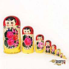 LHM10101 Матрешка традиционная 9 кукольная, Хохлома