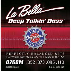0760M Deep Talkin' Bass Комплект струн для бас-гитары, сталь, 52-110, La Bella