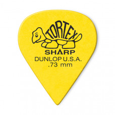 412R.73 Tortex Sharp Медиаторы 72шт, толщина 0,73мм, Dunlop