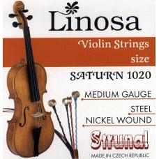 1020-3/4 Saturn Linosa Комплект струн для скрипки 3/4, Strunal