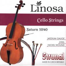 1040-4/4 Saturn Linosa Комплект струн для виолончели Strunal