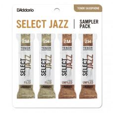 DSJ-K2M Select Jazz Набор тростей для саксофона тенор, размер 2M-2H, 4шт, Rico