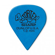 412R1.0 Tortex Sharp Медиаторы 72шт, толщина 1,0мм, Dunlop