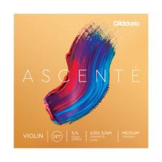 A310-3/4M Ascente Комплект струн для скрипки 3/4, среднее натяжение, D'Addario