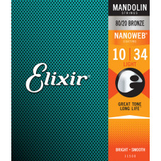 11500 NANOWEB Комплект струн для мандолины, Light, 10-34, Elixir