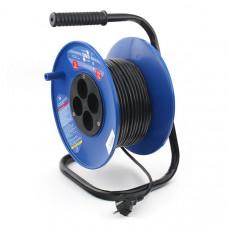 PC-L4-K-20 PowerCube Удлинитель на катушке 6А/1,3 кВт, 4 розетки, 20м, Электрическая мануфактура