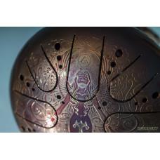 KSY.22.C.e11 Глюкофон 22см, гравировка «Стихия воздуха», полукруглые лепестки, Kosmosky