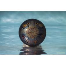KSY.22.C.e1 Глюкофон 22см, гравировка «Компас», полукруглые лепестки, Kosmosky