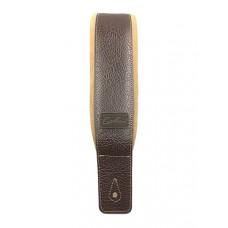 026098 Brown/Tan Padded Ремень для гитары, кожа/замша, коричневый, Godin