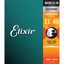 11525 NANOWEB Комплект струн для мандолины, Medium, 11-40, Elixir