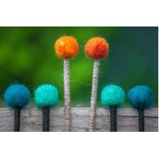 felt.stick Палочки для глюкофона, войлок, Kosmosky