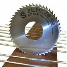8018100 Фреза для установки ладов dвнут=30мм, толщина зуба 0,52мм Sintoms