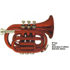 FLT-PT-R Труба компактная, Bb-key, лакированная, цвет - красный. Conductor