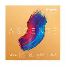 A310-4/4M Ascente Комплект струн для скрипки 4/4, среднее натяжение, D'Addario