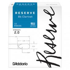 DCR1020 Reserve Трости для кларнета Bb, размер 2.0, 10шт., Rico