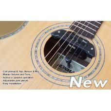 AN-200 Звукосниматель для акустической гитары, tap sensor, в резонатор отверстие, магнитный, Belcat