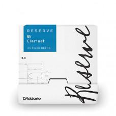 DCR0130-B25 Reserve Трости для кларнета Bb, размер 3.0, 25шт в индивидуальной упаковке, Rico