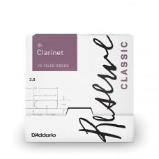 DCT0130-B25 Reserve Classic Трости для кларнета Bb, размер 3.0, 25шт в индивидуальной упаковке, Rico