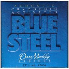 DEAN MARKLEY 2034 Blue Steel LT - струны для акустической гитары (92% медь, 8% цинк) толщина 11-46