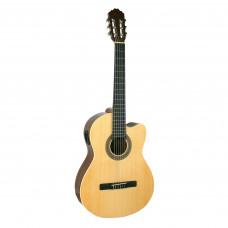 SAMICK CN2CE/N - классическая гитара с подключением, с вырезом, 4/4, ель, цвет натуральный