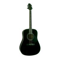 GREG BENNETT GD101S/BK - акустическая гитара, дредноут, ель, цвет черный