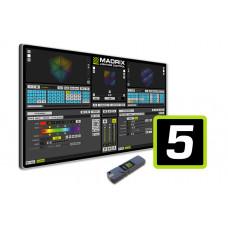 MADRIX MADRIX 5 KEY ENTRY - программное обеспечение + USB KEY, 8 х DMX512, 128х128 DVI