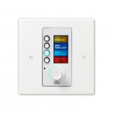 BSS EC-4BV-WHT-M-EU - панельный контроллер с 4 кнопками и регулятором уровня, Ethernet, цвет белый