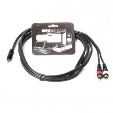 INVOTONE ACA2005 - кабель, 3,5 джек стерео <> 2х RCA(папа), длина 5 метров